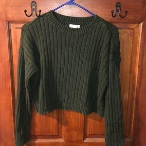 Dark green cropped sweater